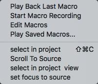 phpstorm macro list