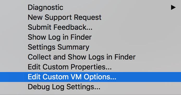 phpstorm help menu