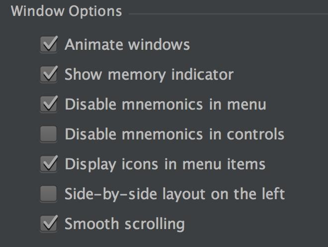 phpstorm show memory indicator